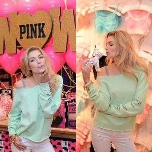 Victoria's Secret PINK | Mint Crew Neck | Medium